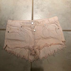 FreePeople Denim Cut Off Shorts